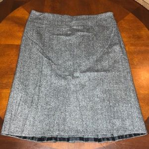 Loft Virgin Wool Blend Pleated Pencil Skirt Size 8